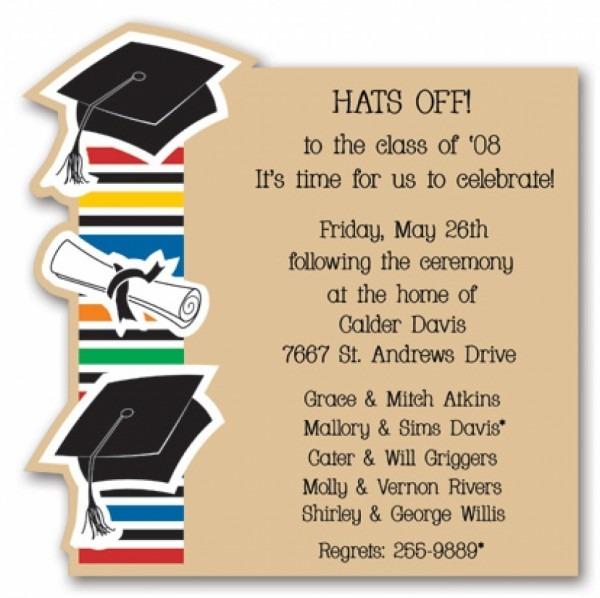 Graduation Invitation Cards Templates Copy Template Graduation