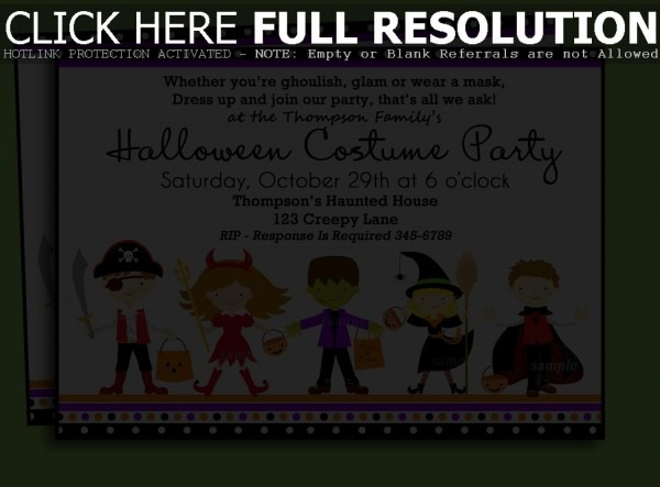 Fancy Halloween Costume Party Invitations About Remodel