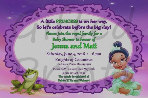 Amazing Of Princess And The Frog Baby Shower Invitations Baby