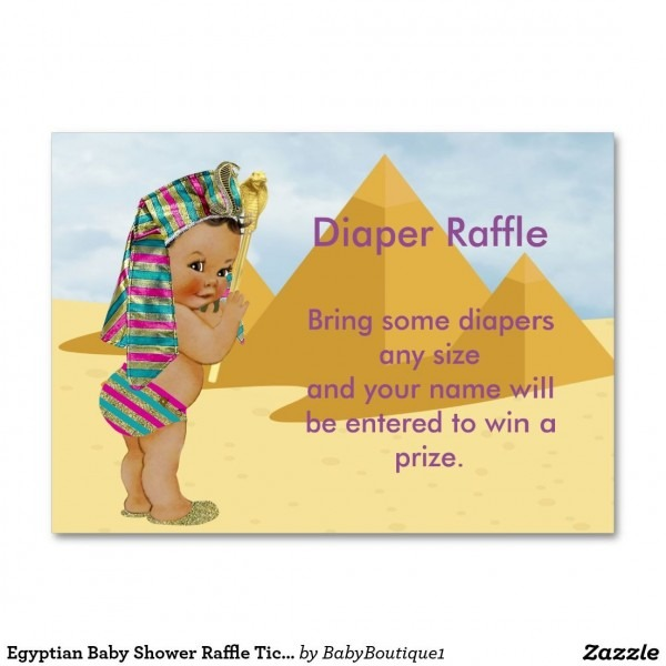 Egyptian Baby Shower Raffle Ticket