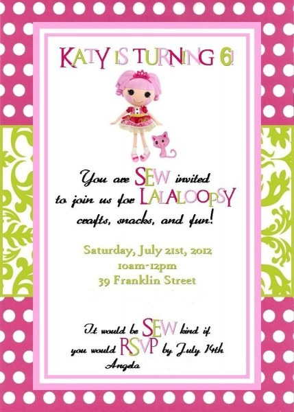Custom Birthday Invites For A Jewels Sparkle Themed Lalaoopsy