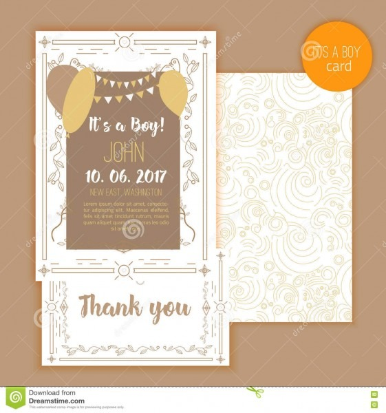 Baby Shower Elegant Card  Ideal For Save The Date, Mothers Day