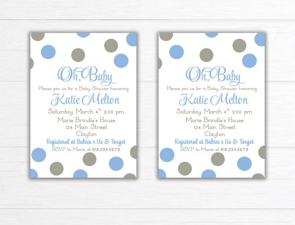 Baby Shower Invitation, Baby Shower Invite, Couples Baby Shower