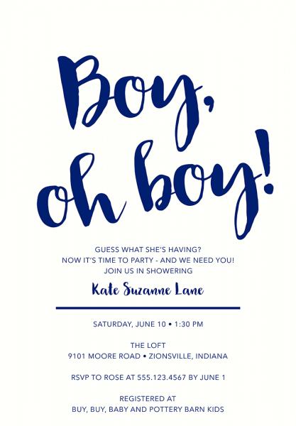 Baby Shower Invitation Ideas For Boys