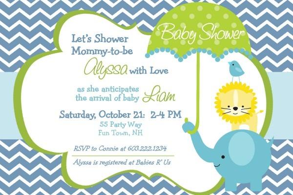Invitation For Boys