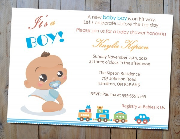 Baby Shower Invitations Ideas For A Boy