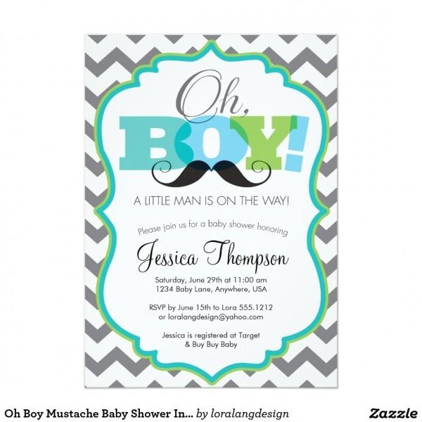 Baby Shower  Boy Baby Shower Invites  Its A Boy Baby Shower