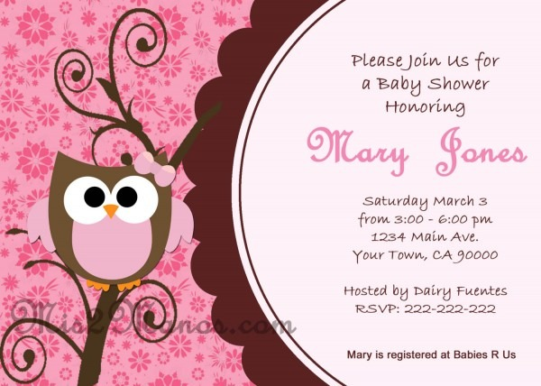 Baby Shower Owl Invitations Baby Shower Owl Invitations With Chic