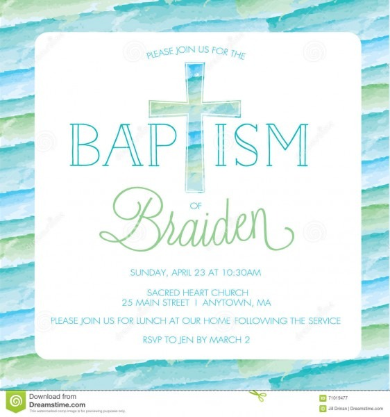 Baptism, Christening Invitation Template