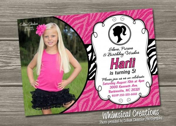 Barbie Invitation 7th Birthday From Happybirthdayworld To Get