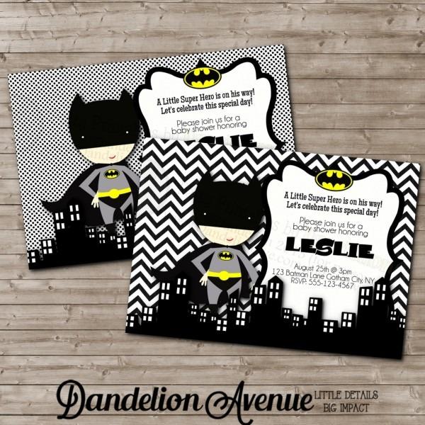 Batman Baby Shower Invitations Batman Baby Shower Invitations And