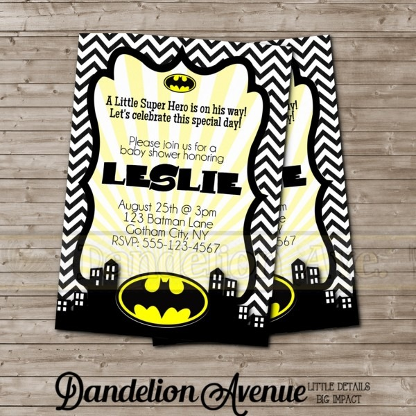 Batman Baby Shower Invitations Batman Baby Shower Invitations Baby