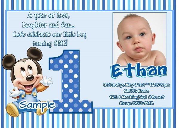 Sample Birthday Invitation Wording For 1st Birthday