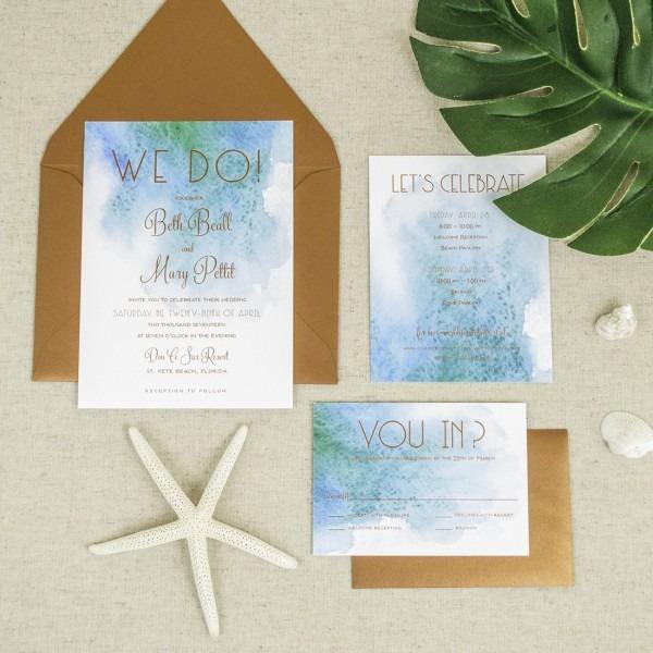 Wedding Ideas  Beach Theme Wedding Invitations