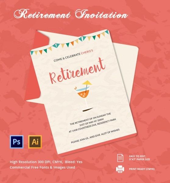 Beautiful Retirement Party Invitation Template Party Invitation