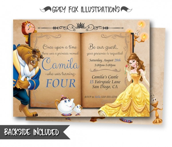 Beauty And The Beast Invitation Bel Fancy Beauty And The Beast