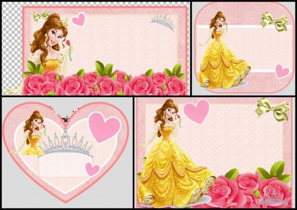 Belle Cute Free Printables Elegant Beauty And The Beast Invitation