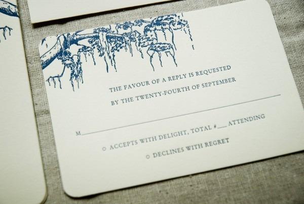 Spanish Moss Themed Wedding Invitation With Monogram (savannah, Ga