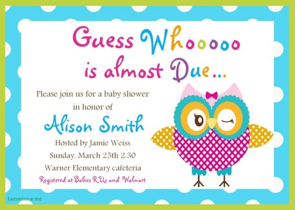 Bird Baby Shower Invitations Awesome Printable Owl Baby Shower