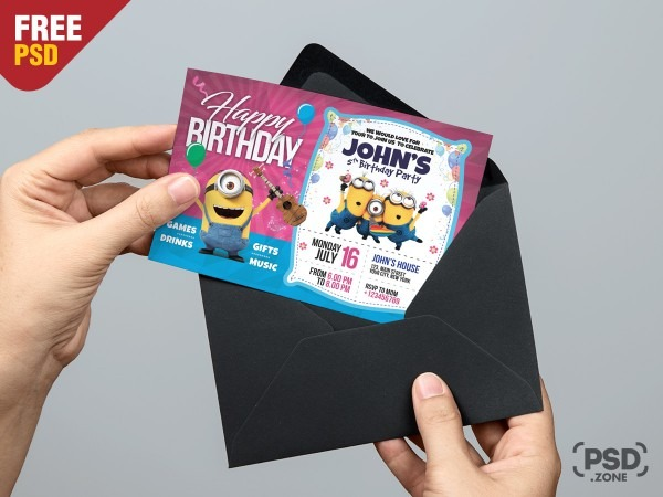 Birthday Invitation Card Template Psd By Psd Zone