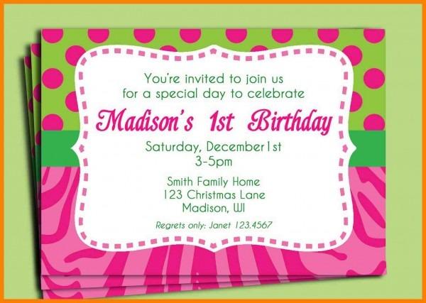 Birthday Invitation Example Invitation Text To Birthday Party