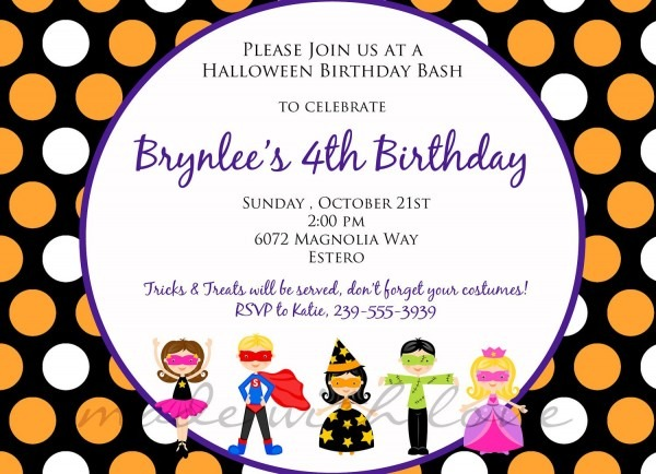 Kids Birthday Party Invitation Letter Sample