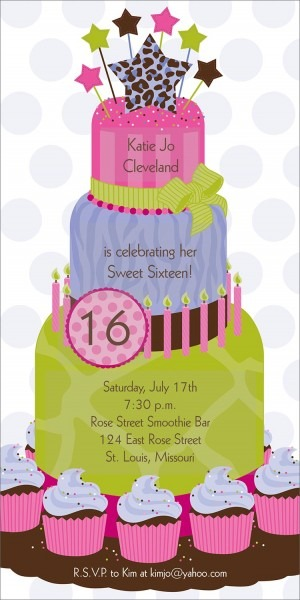 Birthday Invitations Templates Ideas Sweet Cards Card Whole Party