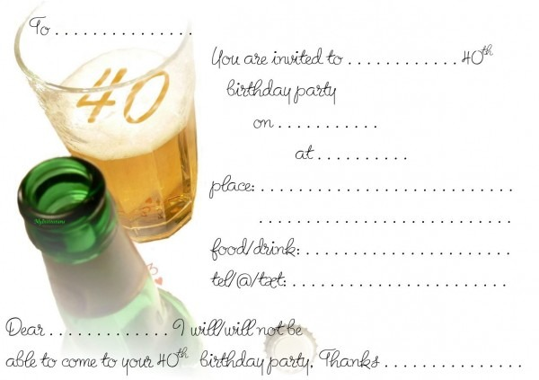 Birthday Invites Template As Well 40th Invite Word With 50th
