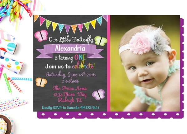 Birthday Party Invitation, Butterfly Birthday Party, Printable