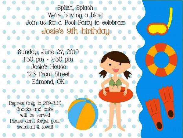 Kids Birthday Party Invites Best Party Invitation Wording Birthday