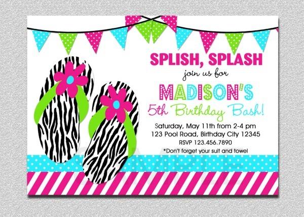 Birthday Pool Party Invitations Birthday Pool Party Invitations By