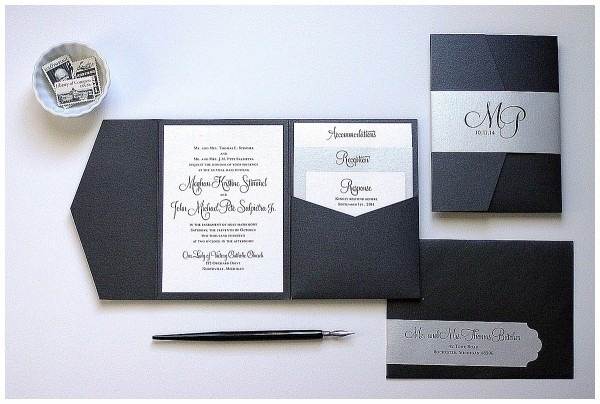 Black And Silver Wedding Invitations