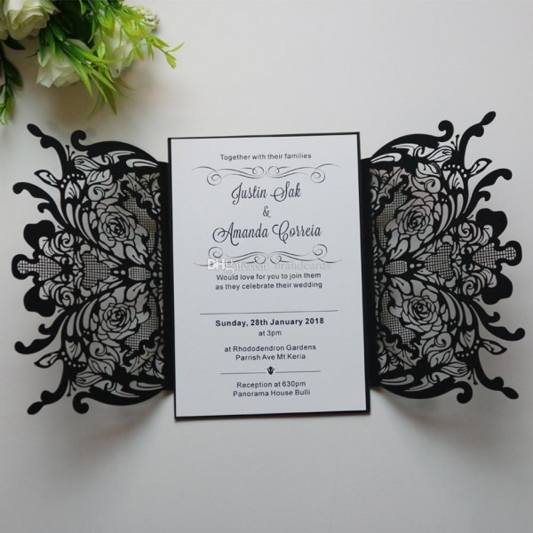 Black Wedding Invitation From Dhresource And Get Inspiration To