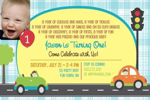 Boy First Birthday Invitations Jose Mulinohouse Baby Bagvania Free
