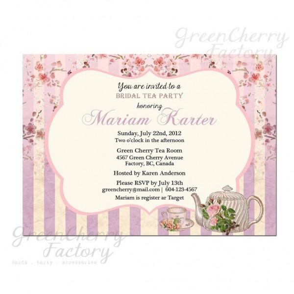 Bridal Shower Tea Invitations Beautiful Bridal Shower Invitation