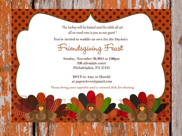 Thanksgiving Dinner Invitation Template Free
