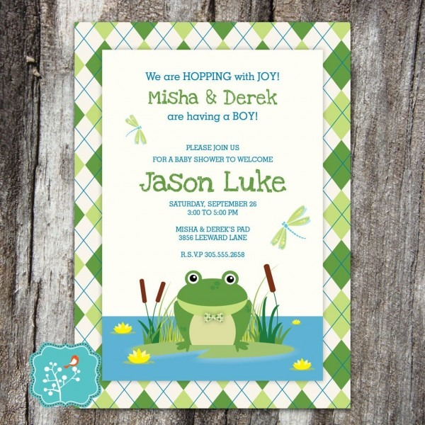 Frog Baby Shower Invitation, Baby Shower, Princess And The Frog