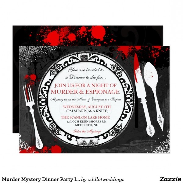 Murder Mystery Dinner Party Invite
