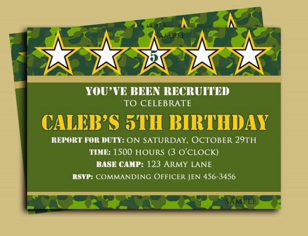 Call Of Duty Invitations Beautiful Camouflage Birthday Invitation