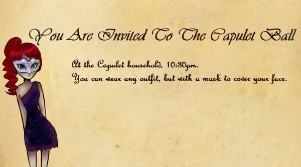 Capulet Ball Invitation