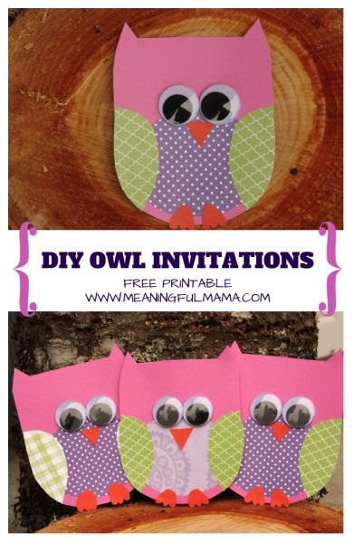 Owl Invitations Template For Free