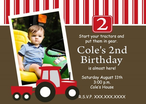 Red Tractor Birthday Printable Invitation By Makinmemoriesonpaper