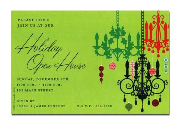 Holiday Open House Invitation Template Free Alexanderandpace