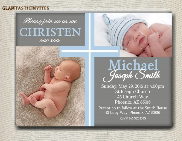 Christening Invitation Boy From I And Get Ideas To Create Your