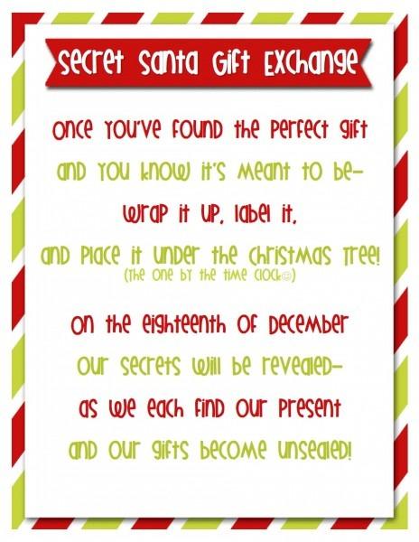 Secret Santa Message Invitation