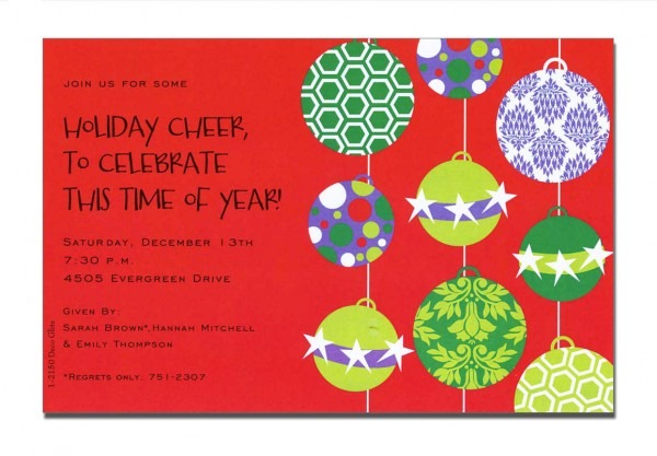 Christmas Open House Invitations Free Printable – Festival Collections