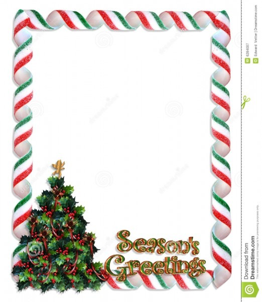 Christmas Tree Frame Border Stock Illustration