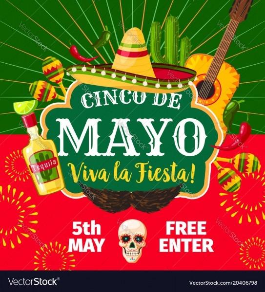 Cinco De Mayo Mexican Fiesta Invitation Royalty Free Vector