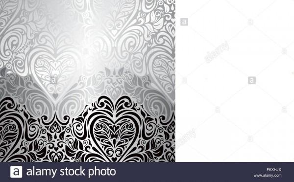 Classic Black,white & Silver Vintage Invitation Background Design