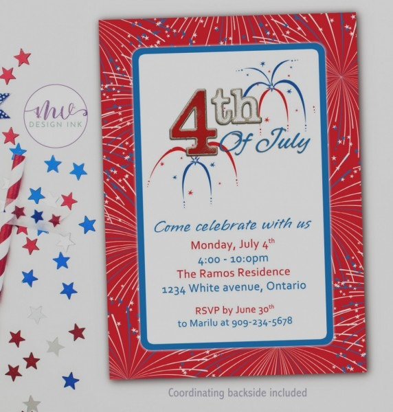 Wonderful Patriotic Birthday Invitations 4th Of July Party And For